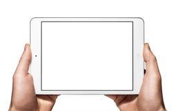 Een nieuwe Ipad mini op hand royalty-vrije stock afbeelding