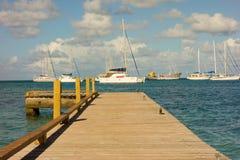 Een nieuwe pier in de Caraïben Royalty-vrije Stock Foto's