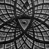 Een nieuwsgierig abstract zwart-wit patroon Stock Afbeeldingen
