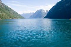 Een Noorse fjord Stock Foto