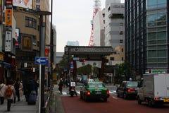 Een normale dag in Tokyo met verkeer royalty-vrije stock foto's