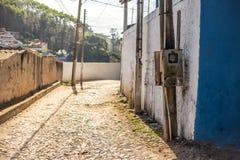 Een normale/typische straat in Brazilië royalty-vrije stock fotografie
