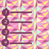 Een numerieke classificatie op een kleurrijke veelhoekige achtergrond Stock Afbeelding