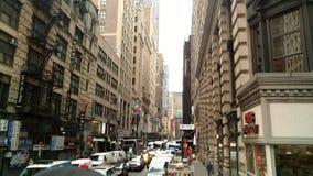 Een NYC-Straat royalty-vrije stock afbeelding