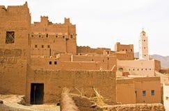 Een oase bij de woestijn Stock Foto's