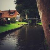 Een ochtend in Giethoorn stock foto's
