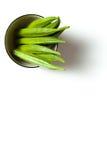Een okra in een kom Stock Foto