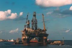 Een olieplatform Royalty-vrije Stock Afbeelding