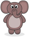 Een olifant status Royalty-vrije Stock Foto's
