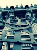 Een Omheining buiten Ð 'уÐ'иР½ Ð ¾ к з Ñ… иР¼ Ð?раР¼ и of het Horodecki-Huis - Art Nouveau - Kyiv - de Oekraïne royalty-vrije stock fotografie