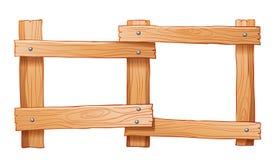 Een omheining van hout wordt gemaakt dat Stock Foto's