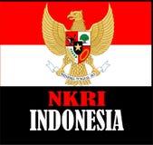 Een onafhankelijk land van Indonesië 1945 stock illustratie