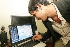 Een onafhankelijke Iraakse televisiepost, Cario Royalty-vrije Stock Foto