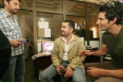 Een onafhankelijke Iraakse televisiepost, Cario Royalty-vrije Stock Foto's