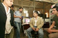 Een onafhankelijke Iraakse televisiepost, Cario Stock Foto