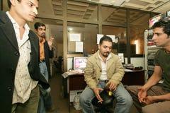 Een onafhankelijke Iraakse televisiepost, Cario Stock Afbeelding