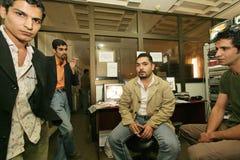 Een onafhankelijke Iraakse televisiepost, Cario Stock Foto's