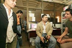 Een onafhankelijke Iraakse televisiepost, Cario Stock Afbeeldingen