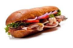 Een onderzeese sandwich op een witte achtergrond royalty-vrije stock afbeeldingen