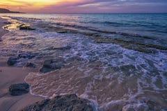 Een ongelooflijk gevoel bij de kust stock foto