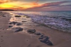 Een ongelooflijk gevoel bij de kust royalty-vrije stock afbeeldingen