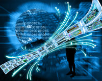 Een ononderbroken stroom van informatie Royalty-vrije Stock Afbeelding