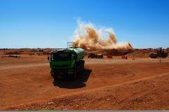 Een ontploffing op de mijnbouwplaats royalty-vrije stock fotografie