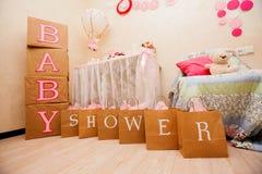 Een ontwerp van de babydouche Stock Afbeeldingen