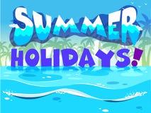 Een ontwerp van de de zomervakantie Stock Afbeeldingen
