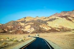 Een ontzag het inspireren landschap van het Nationale Park van de Doodsvallei, Californië stock fotografie