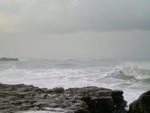 Een onweer die van het overzees naderbij komen Stock Foto