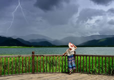 Een onweer komt naderbij Stock Foto
