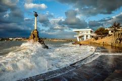 Een onweer op zee royalty-vrije stock fotografie