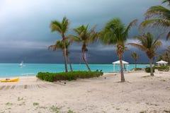 Een Onweersbui in de Caraïben, de Bahamas stock foto