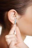 Een oorclose-up. Royalty-vrije Stock Afbeelding