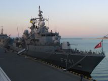 Een oorlogsschip 4 Stock Fotografie