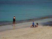 Een oorspronkelijk strand in de windwaartse eilanden stock videobeelden