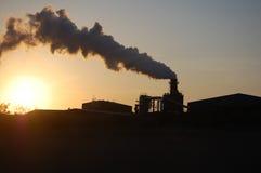 Een oorzaak van klimaatverandering Stock Foto's