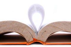 Een open boek met blad die golven vormen Royalty-vrije Stock Foto