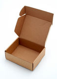 Een open kartondoos Stock Foto's