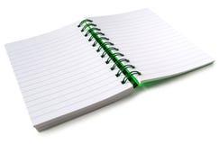 Een open notitieboekje. Stock Afbeeldingen