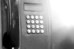 Een openbare telefoon met knopen royalty-vrije stock fotografie