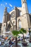 Een Openluchtkoffie in Barcelona royalty-vrije stock foto's