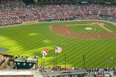 Een opgeheven mening van het derde Busch Stadium, St.Louis, Missouri, waar de Pittsburgh Pirates de Kampioen van 2006 Wereldreeks Royalty-vrije Stock Afbeelding