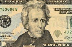 Een opgerolde Amerikaanse twintig dollarrekening Royalty-vrije Stock Afbeeldingen