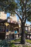 Een opslag in het Avonturenpark van Disney Californië, is een themapark in Anaheim wordt gevestigd die stock afbeelding