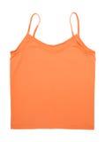 Een oranje mouwloos onderhemd Stock Afbeeldingen
