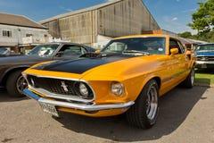Een oranje Mustang Shelby van Ford van 1969 Stock Fotografie