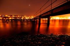 Een Oranje Nacht Stock Fotografie