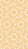 Een oranje vector naadloze achtergrond met elegant mooi patroon Stock Foto's